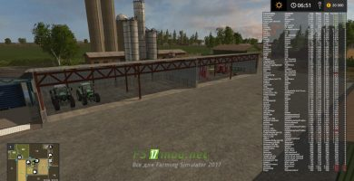 Мод на North Frisian March 4-Fold Map V2.0 Neue Lager для FS 2017
