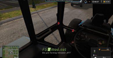 Belarus 1221 MTZ вид с кабины