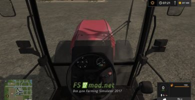 МТЗ-1822 вид с кабины водителя