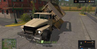 Мод на грузовик УРАЛ 5557 Самосвал для Farming Simulator 2017
