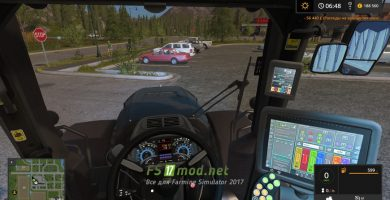 Deutz-Fahr Agrotron 9340 TTV вид с кабины