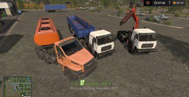 Мод на Уралспецтранс пак для игры Farming Simulator 2017