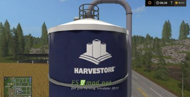 Мод на Harvestore Silo Placeable для игры Farming Simulator 2017
