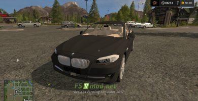 Мод на автомобиль BMW 5 Series F10 для Farming Simulator 2017