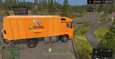 Мод на LKW Rubbish Cart UAL