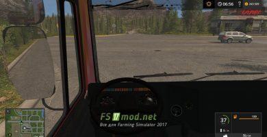 МАЗ 5432 вид с кабины