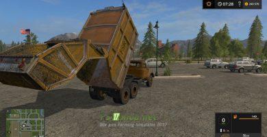 Мод на Magirus Deutz Dumpster для Farming Simulator 2017