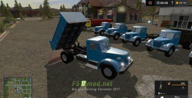 Мод на грузовики МАЗ/ЯАЗ-200 + Трейлеры для игры Симулятор Фермера 2017