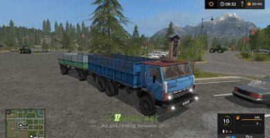 Мод на КАМАЗ 52212 + Прицеп ГКБ 8351