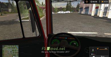 МАЗ 5432 4X4 вид с кабины