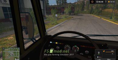 КАМАЗ-55102 вид с кабины