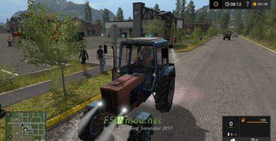 Мод на Трактор MR МТЗ 100 для игры Farming Simulator 2017