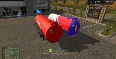 Mод на Liquid Trailer Pack51 для игры Farming Simulator 2017