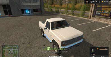 Мод на Ford Bronco XLT (U150) 1981 для FS 2017