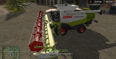 Мод на Claas Lexion 600 Full Pack для игры Farming Simulator 2017