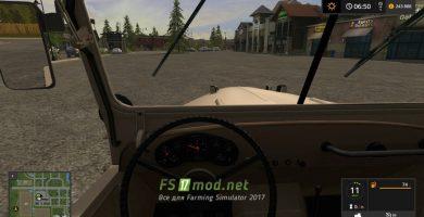 ГАЗ 69 Morereality вид с кабины