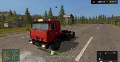 Мод KAMAZ 54115 для игры Farming Simulator 2017