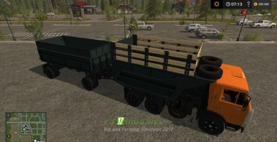 Мод на Камаз 55111 1989 для игры Farming Simulator 2017