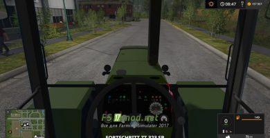 Fortschritt ZT 323 Dark Green вид с кабины