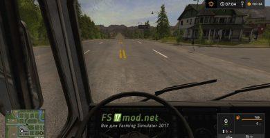 МЗКТ 7429 вид с кабины