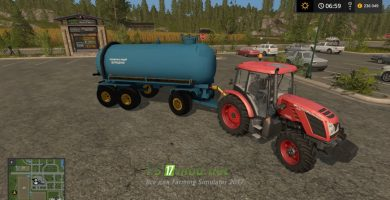 Мод на бочку МЖТ 16 для Farming Simulator 2017