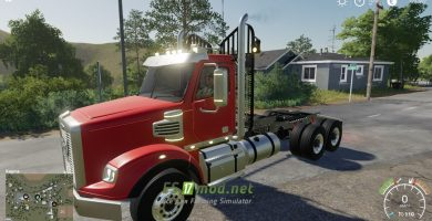 Мод на Freightliner Coronado SD для Farming Simulator 2019