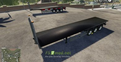 Mод на Fliegl Flatbed Round Square Autoload для игры Farming Simulator 2019