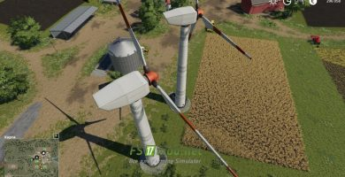 Placeable Wind Turbine Revenue Generator
