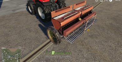 Мод на Сеялку СЗ-3.6 и две сцепки для игры Farming Simulator 2019