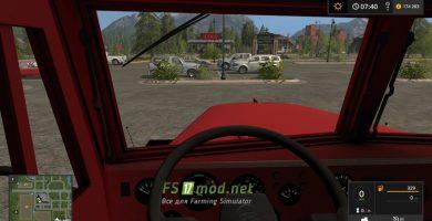 КРАЗ 256 вид с кабины
