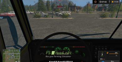 КАМАЗ-55111 вид с кузова