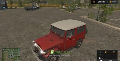 Мод на Toyota Land Cruiser 40 Canvas Top для игры Farming Simulator 2017