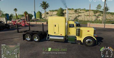 Мод на Peterbilt Log Truck для игры Farming Simulator 2019