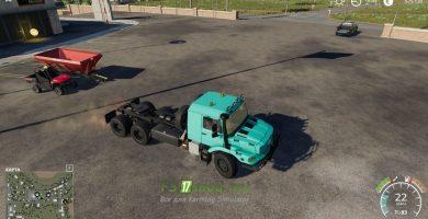 Мод на Mercedes Zetros 3643 6X6 для игры Farming Simulator 2019