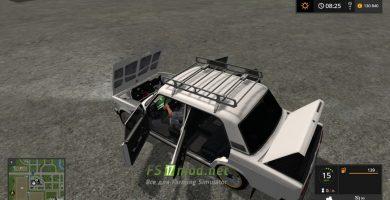 Мод на автомобиль Лада Жигули 2107 для игры Симулятор Фермера 2017