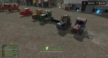 Мод на Best Pack Гусеничных Тракторов для игры Farming Simulator 2017
