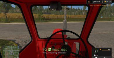 Трактор МТЗ 50 вид с кабины