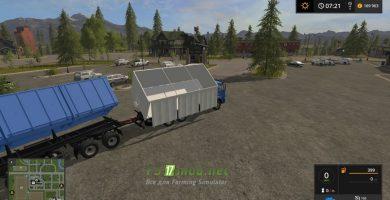 Мод на КАМАЗ 65117 с прицепом СЗАП для игры Farming Simulator 2017