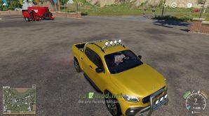 Мод на автомобиль Mercedes X Class для Farming Simulator 2019