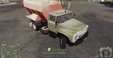 Мод на грузовик ЗИЛ 130 ЗСК для игры Фермер Симулятор 2019