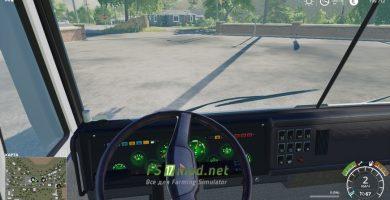 КАМАЗ 55111 «Совок» вид с кабины