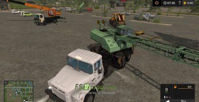 Мод на КРАЗ 250К КС-4561А для игры Farming Simulator 2017
