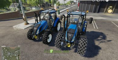 Mод на New Holland T5 with forestry upgrade
