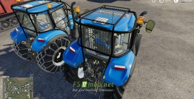 Mод на New Holland T5 with forestry
