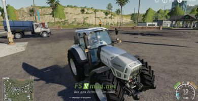 Мод на трактор Lamborghini R7.220 для игры Farming Simulator 2019