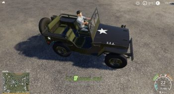 Mод на Willys Jeep для игры Farming Simulator 2019