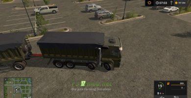Мод на КАМАЗ-40С для игры Farming Simulator 2017