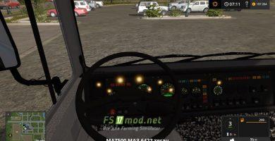 МАЗ 6422 вид с кабины