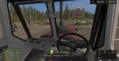 ХТЗ Т-150К вид с кабины