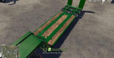Mод на Wheelsloader Lowdecktrailer для игры Farming Simulator 2019